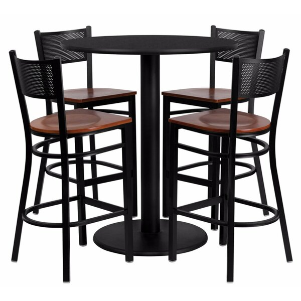 Hardaway Round Laminate 5 Piece Pub Table Set by Red Barrel Studio
