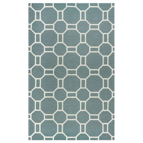 Evangeline Hand-Tufted Dark Sage Indoor/Outdoor Area Rug by Ebern Designs