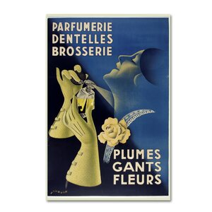 'Art Deco Gants Parfumerie' Vintage Advertisement on Wrapped Canvas by Latitude Run
