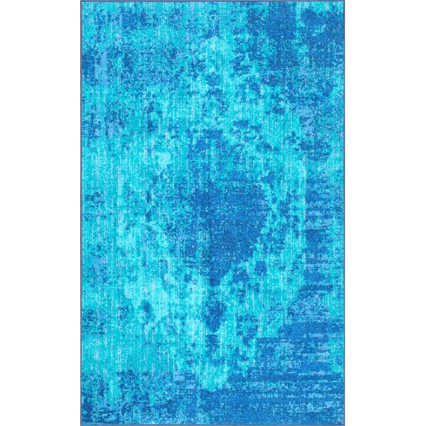 Chamberland Blue Area Rug by Bungalow Rose