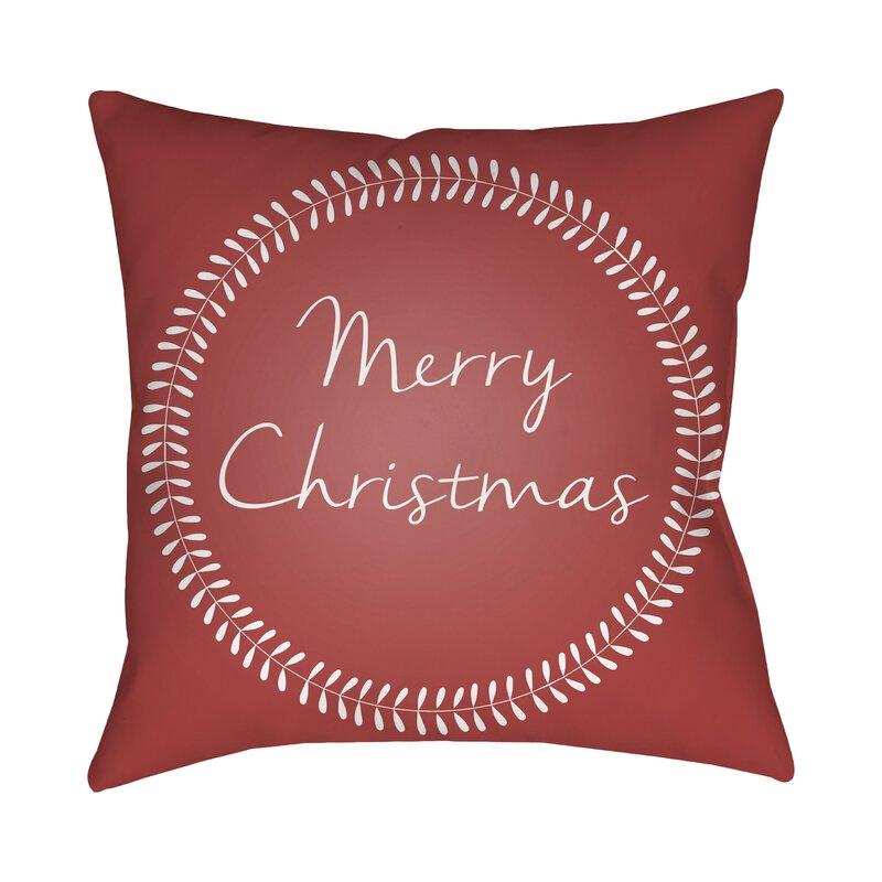 merry christmas outdoor throw pillow - Christmas Outdoor Pillows