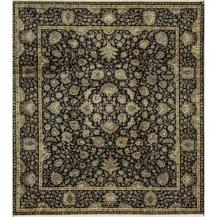 One-of-a-Kind Sheela Hand-Knotted Black Indoor Area Rug By Bokara Rug Co., Inc.