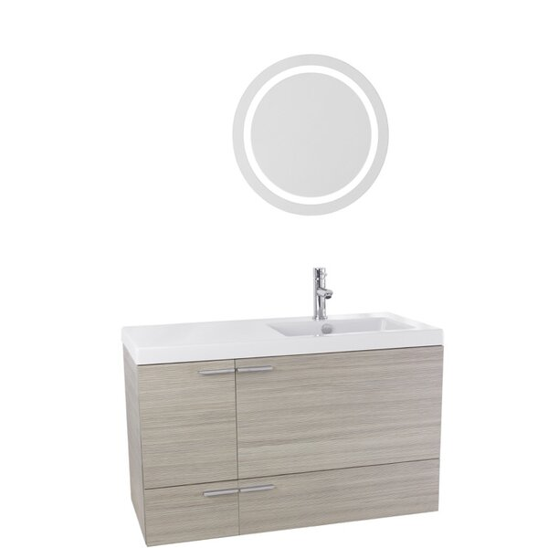Urbain 39 Wall-Mounted Single Bathroom Vanity Set with Mirror