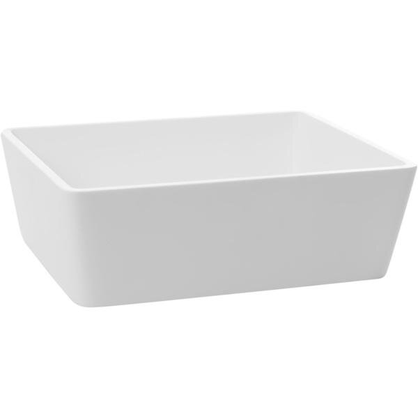 Stone Rectangular Vessel Bathroom Sink by AGM Home Store