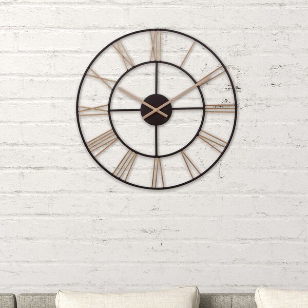 Amicia Cut Out Roman Numeral 20 Wall Clock by Gracie Oaks