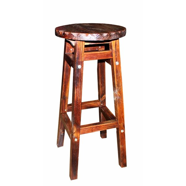 Farah Wooden Round Accent Stool by Millwood Pines