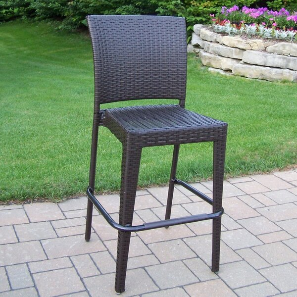All Weather Elite Resin Wicker 44-inch Patio Bar Stool (Set of 4) by Oakland Living Oakland Living