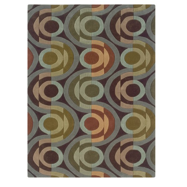 Camden Hand-Tufted Chocolate/Wasabi Area Rug by Corrigan Studio