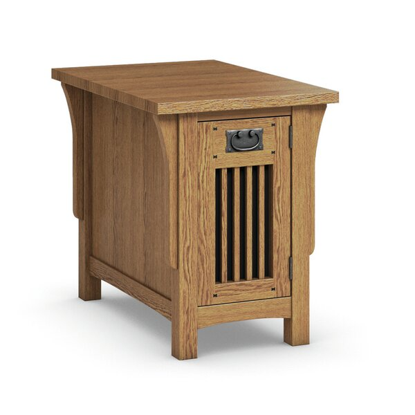 FLW Chairside Table With Drawer by Caravel