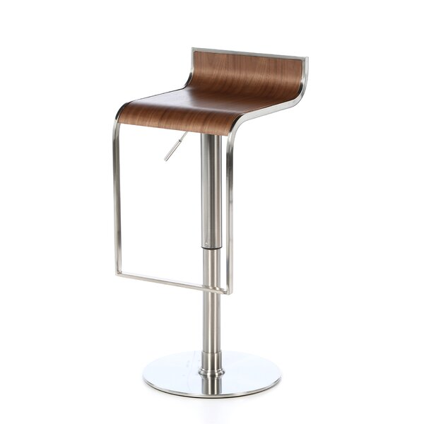 Bannerdown Contemporary Adjustable Height Swivel Bar Stool by Orren Ellis