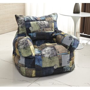 Zipcode Design Print Medium Bean Bag Chair