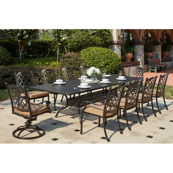 Waconia 11 Piece Dining Set with Cushions by Darby Home Co