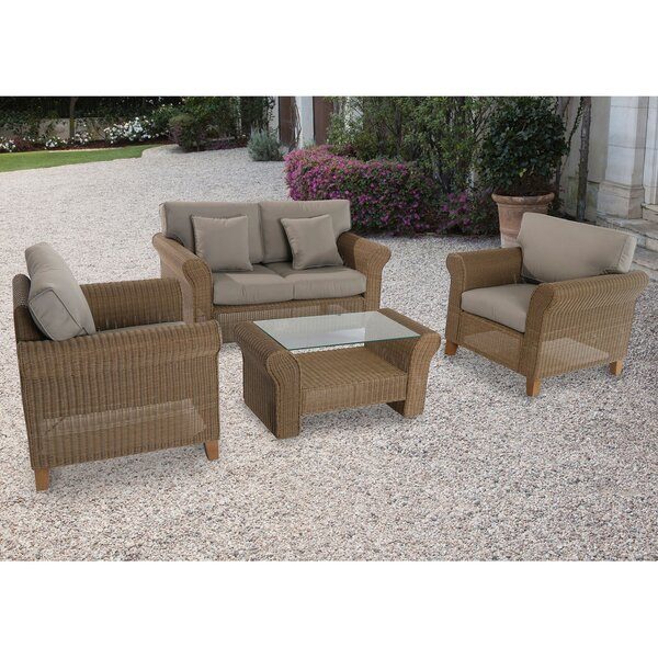 Barrow 4 Piece Sofa Set with Cushions by Darby Home Co