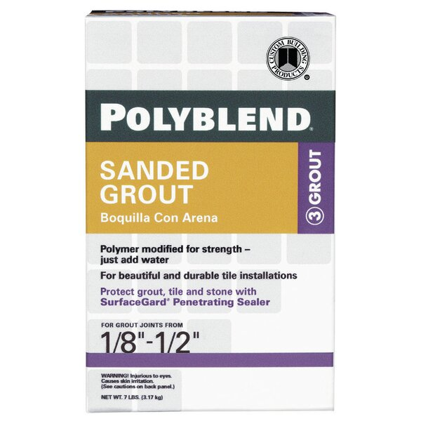 Sanded Tile Grout 7lb by Custom Building Products