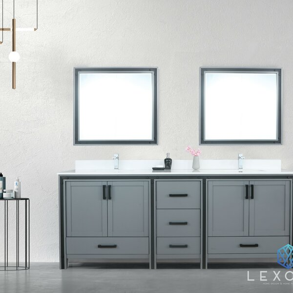 Aweis 85 Double Bathroom Vanity Set with Mirror