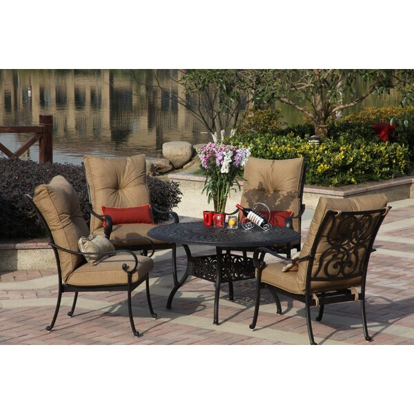 Lanesville 5 Piece Dining Set with Cushions by Darby Home Co