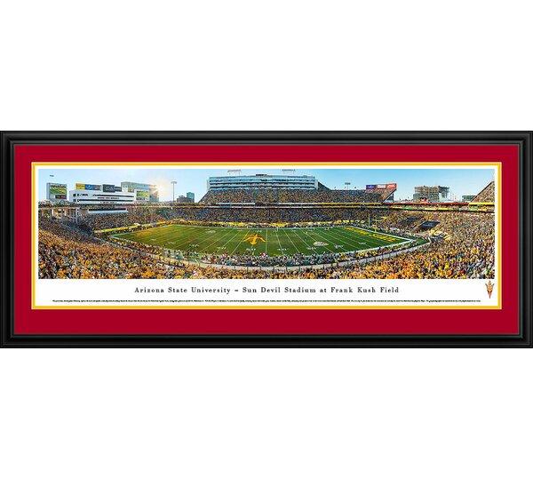 NCAA Arizona State University - 50 Yard Line by James Blakeway Framed Photographic Print by Blakeway Worldwide Panoramas, Inc