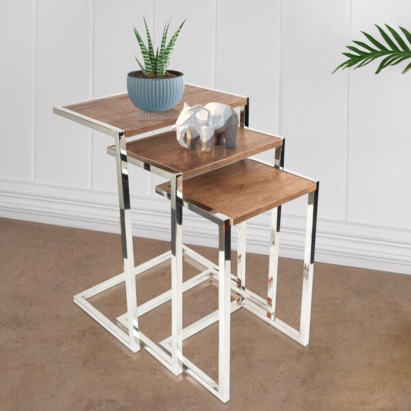 Review Conrad Frame 3 Piece Nesting Tables