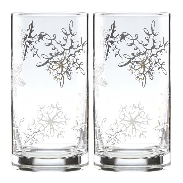 Jingle All the Way Hiball Glasses, Set of 2 by kate spade new york