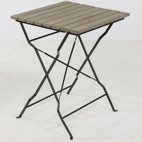 Barrera Folding Metal Bistro Table by Gracie Oaks