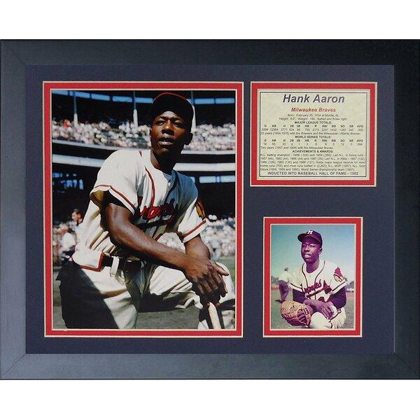 Hank Aaron - Milwaukee Braves Framed Memorabilia by Legends Never Die