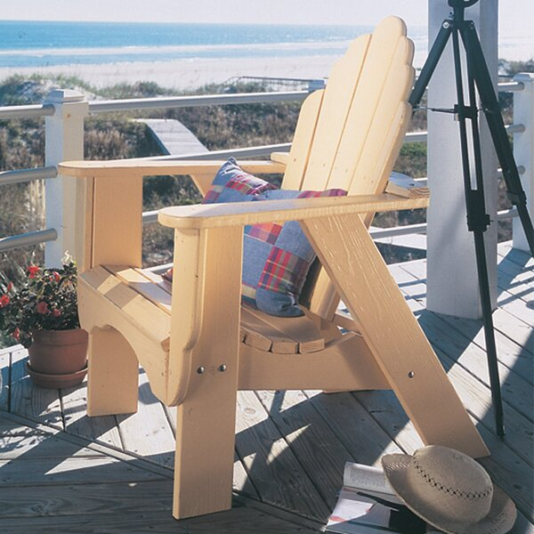 Fanback Wood Adirondack Chair by Uwharrie Chair