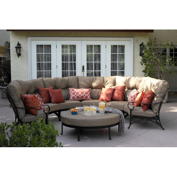 Lanesville 7 Piece Sectional Seating Group with Cushions by Darby Home Co