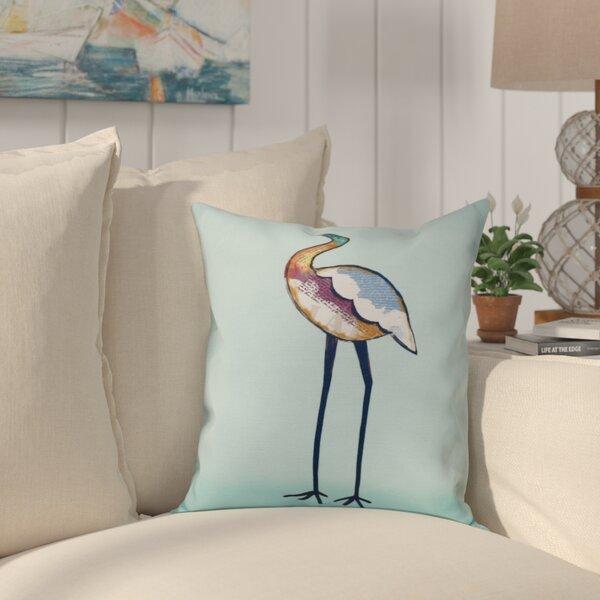 Boubacar Bird Animal Print Throw Pillow by Highland Dunes