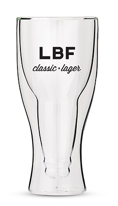 Personalized Classic Lager Double Walled 12 Oz. Beer Glass by Weddingstar
