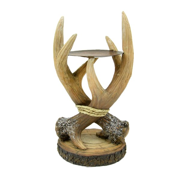 Antler Candlestick by Millwood Pines