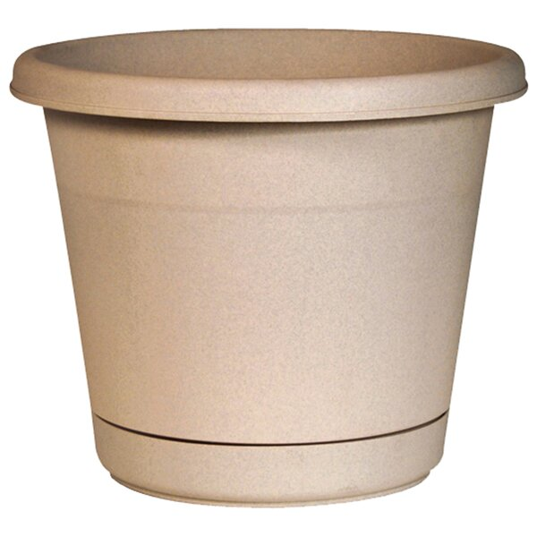 Plastic Pot Planter with Saucer (Set of 12) by Southern Patio®