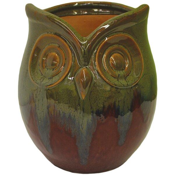 Owl Ceramic Pot Planter by Craftware