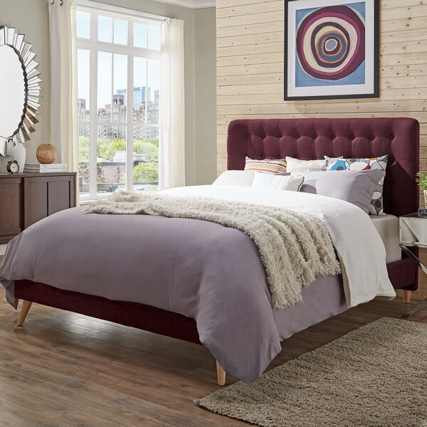 Starks Upholstered Platform Bed by Wrought Studio