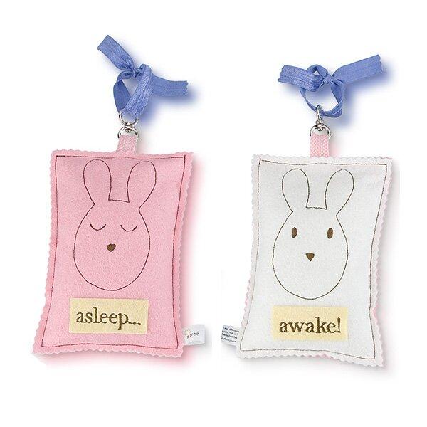 Bunny Asleep / Awake Door Hanger by Tree by Kerri Lee