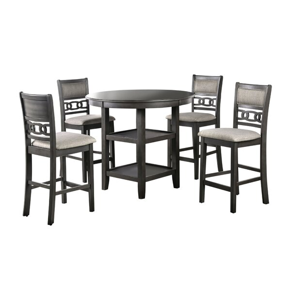 Dontae 5 Piece Counter Height Dining Set by Red Barrel Studio Red Barrel Studio