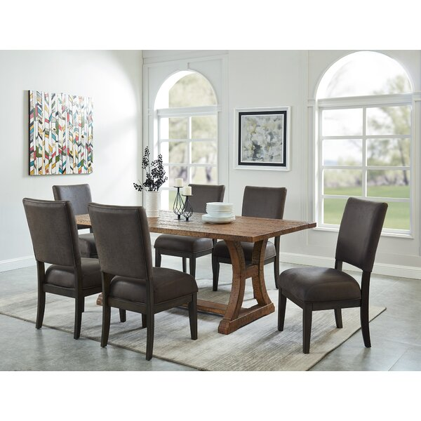 Gribble 7 Piece Solid Wood Dining Set by Gracie Oaks
