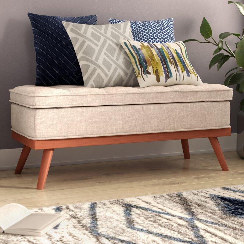 Varian Upholstered Storage Bedroom Bench Birchlane: Ronquillo Upholstered Storage Bench & Reviews