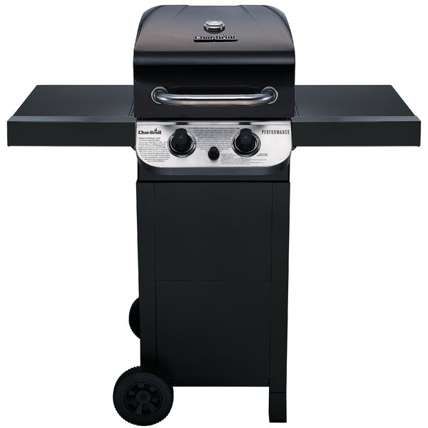 Performance 2-Burner Propane Gas Grill with Side Shelves by Char-Broil