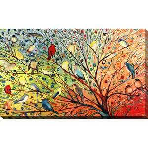 '27 Birds' Painting Print on Wrapped Canvas by Andover Mills