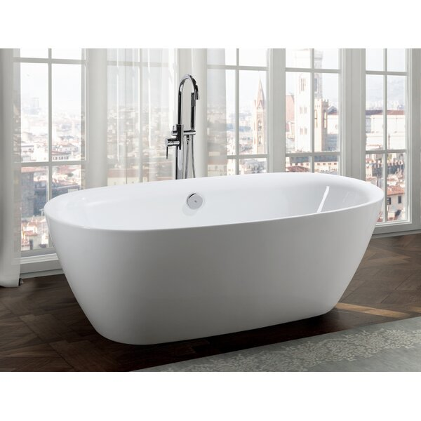Palermo 67 x 32 Freestanding Soaking Bathtub by Bellaterra Home