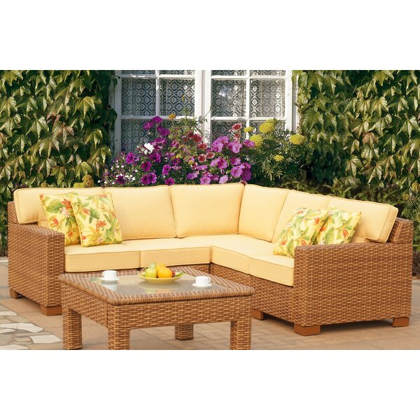 St George 5 Piece Sectional with Cushion by Bay Isle Home