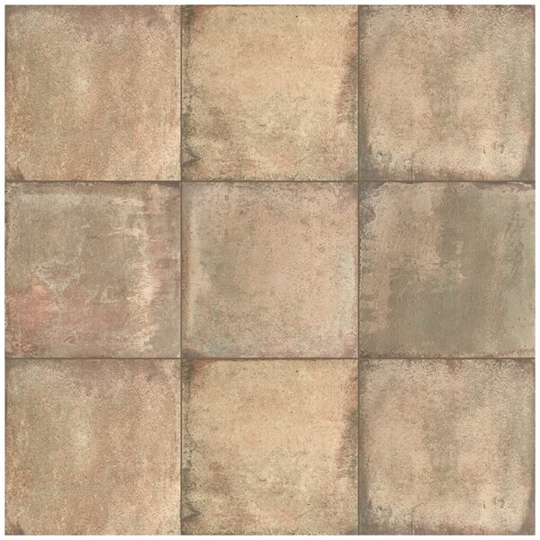Relic 8.75 x 8.75 Porcelain Field Tile in Marrone by EliteTile