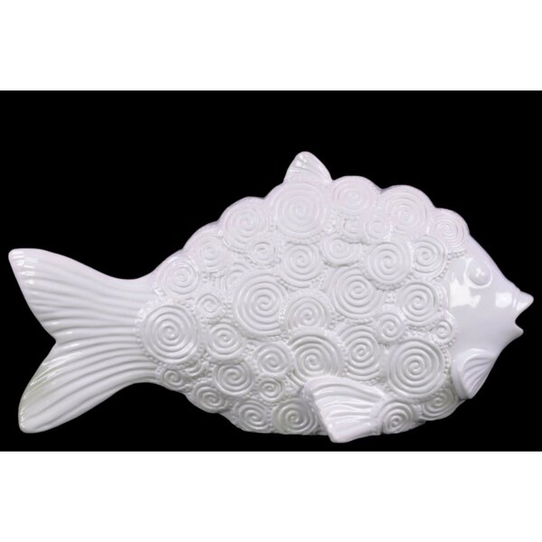 Steves Ceramic Fish with Round Swirl Scales Figurine by Bay Isle Home