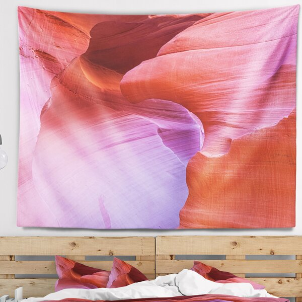 Photography Antelope Canyon Landscape Tapestry and Wall Hanging by East Urban Home
