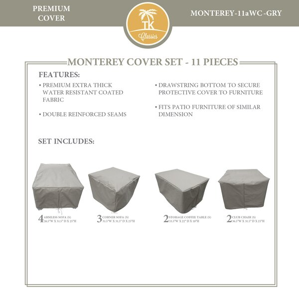 Monterey 11 Piece Water Resistant Patio Furniture Cover Set by TK Classics