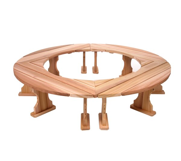 Round Wood Tree Bench by All Things Cedar