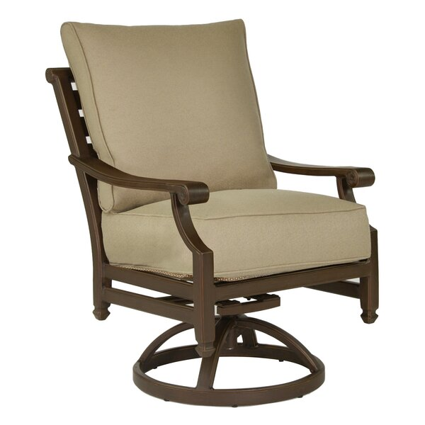 Grand Regent Swivel Rocking Chair with Cushion by Leona