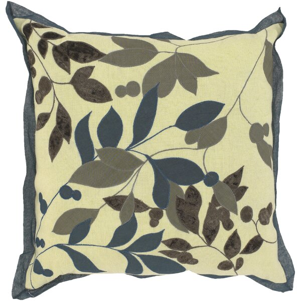 Sibley Leaves Throw Pillow by Red Barrel Studio