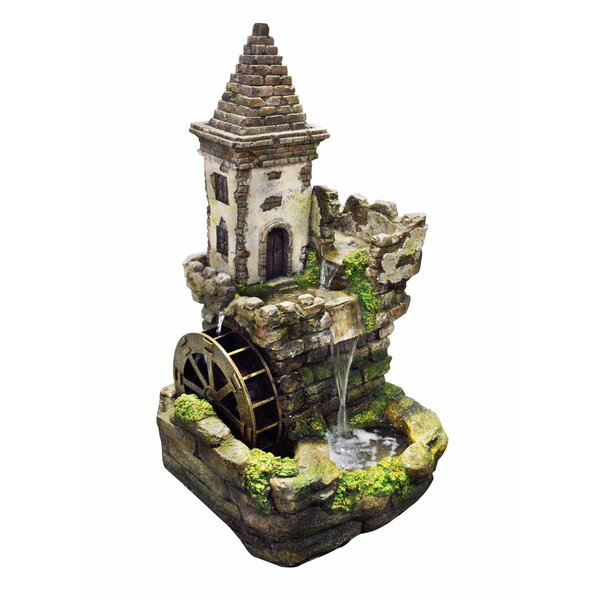 Polystone Castle Tiered Fountain by Alpine