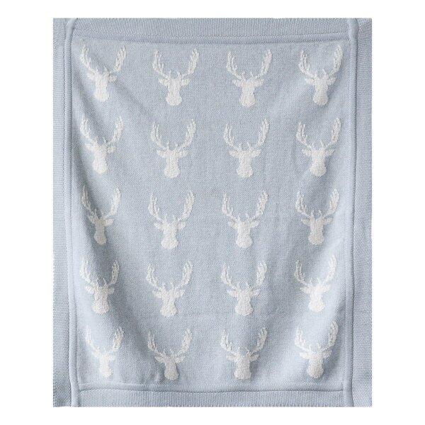 Rockaway Moose Knit Cotton Blanket by Harriet Bee